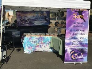 Our booth at Mission Farmers market