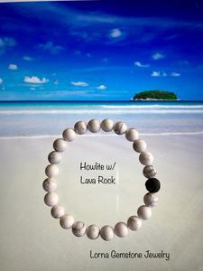 Natural Howlite Aromatherapy Bracelet