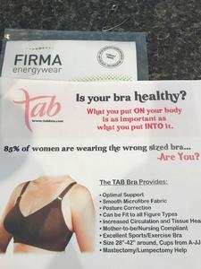 TAB Custom-Fitted Bras / FIRMA Energywear is exhibiting at The Health and Wellness Show